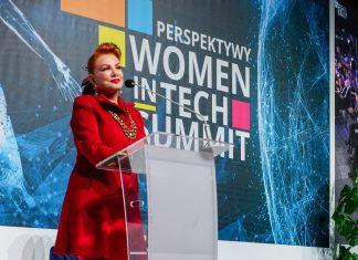 Ambassador Mosbacher addresses the Women in Tech Summit, Nov. 27. Photo by Karolina Gontarek