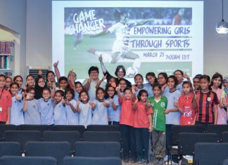 """World Cup champion and Olympic gold medalist Alex Morgan joined the Bureau of Educational and Cultural Affairs (ECA), the Bureau of International Information Programs and Mission Tanzania for a Facebook Live event, March 21, to celebrate Women's History Month. The event kicked off ECA's """"Step In, Dream Big"""" initiative ahead of the 2019 Women's World Cup to tap into the power of role models, encouraging girls to step into their potential and realize their dreams. Youth athletes, coaches and advocates from Tanzania (where Morgan served as a Department of State sports envoy in 2017) and 20 U.S. embassies, consulates and American centers in Africa, Europe, the Middle East and North Africa, and South and Central Asia interacted live with Morgan for a 45-minute question and answer session."""