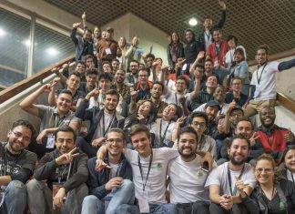 Participants of Colombia's first-ever Zoohackathon competed in teams but shared the common goal of developing tech-based solutions to combat illegal logging in Colombia. Photo courtesy of Embassy Bogotá
