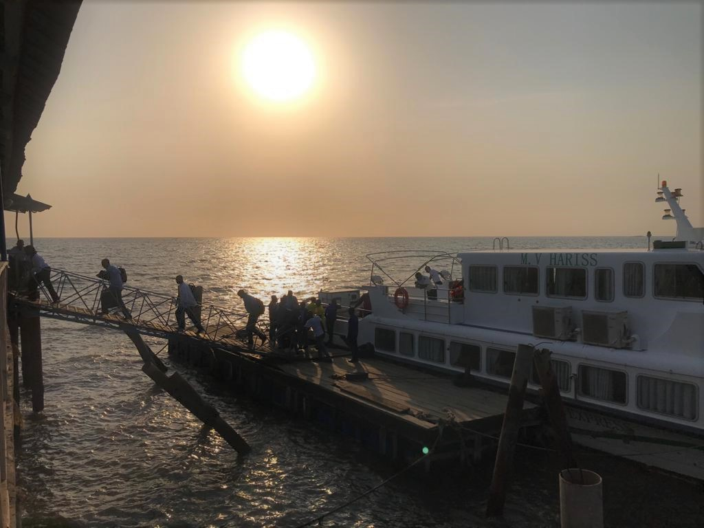 DSS at Embassy Freetown led the joint security effort with Sierra Leonean police, military, and airport security to repatriate about 140 Americans back to the United States, March 2020. State Department photo