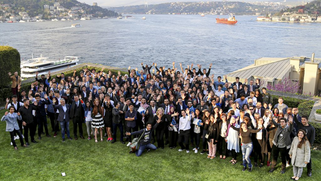 A group photo from the 2018 GIST Tech-I Awards reception held in Istanbul, Turkey. Photo by Genesis Lodise