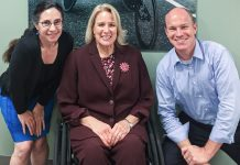 The International Disability Rights policy team includes, from left: Foreign Affairs Officer Lynne Madnick, Special Advisor Ann Cody, and Foreign Affairs Officer Charlie Kellett. Photo by Robin Smith