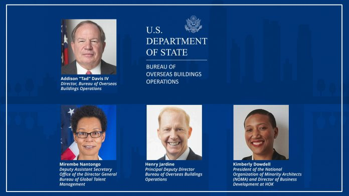 The Bureau of Overseas Buildings Affairs' (OBO) Diversity and Inclusion virtual discussion featured OBO Director Addison