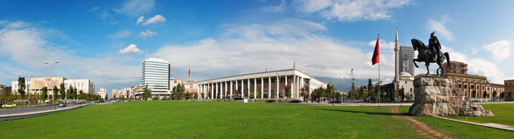 Skanderbeg Square in Tirana, Albania. Photo by Ppictures