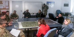 Members of Mission Germany's consular sections take part in Operation Saber Junction, January 2020. Held in Kittensee, Bavaria, Saber Junction is a 7th Army Training Command-conducted, U.S. Army Europe-directed annual crisis response exercise designed to assess the readiness of the U.S. Army and to promote interoperability with participating ally and partner nations. Photo by John Stark