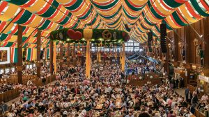 Munich's Oktoberfest, which dates to the Oct. 12, 1810, marriage celebration of King Ludwig I's daughter, is now world-famous for its beer tents and halls, enormous pretzels, and traditional atmosphere. The two-week event attracts more than 6 million people every year. Photo by Tichr