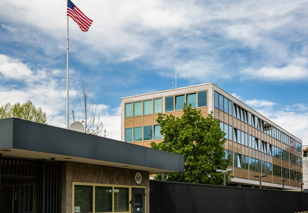 Designed in the 1950s by renowned Bavarian architect Sep Ruf, the U.S. Consulate General in Munich is a registered historical and architectural monument due to its post-war modernist design. Photo courtesy of Mission Germany