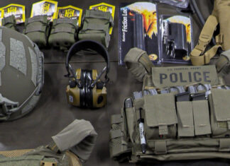 The Diplomatic Security Service's Defensive Equipment and Armored Vehicle Division manages various defense equipment, including helmets, ear protection, vests, and more. Photo courtesy of DSS