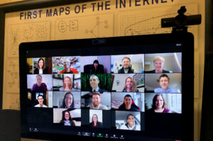 S/CCI staff convene for a virtual office gathering, December 2020. Photo by Len Hause