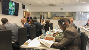 """The Economic Community of West African States (ECOWAS) representatives attend a S/CCI-sponsored workshop on """"National Action and Regional Cooperation: Cyber Risk Management"""" at the George C. Marshall Center in Washington, April 2018. Photo by Stacie Duhaney"""
