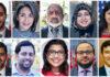 Clockwise from top left: Razi Hashmi, Selena Gallagher, Ibrahim Beshir, Usra Ghazi, Moshtayeen Ahmad, Nursultan Eldosov, Wesam Hassanein,Saira Saeed, Sameer Hossain, and Asim Ali. Photo courtesy of Mosaic