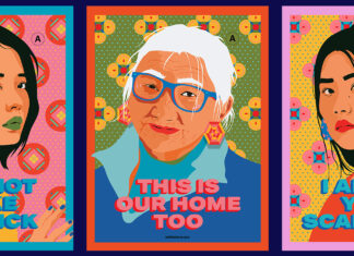 """""""I Still Believe in Our City"""" posters were designed by artist Amanda Phingbodhipakkiya for free usage at protests and rallies in speaking up for the Asian American community. Illustration by Amanda Phingbodhipakkiya"""