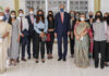 Special Presidential Envoy for Climate John Kerry (center) at a roundtable with women leaders in energy and climate in India, April 2021. State Department photo
