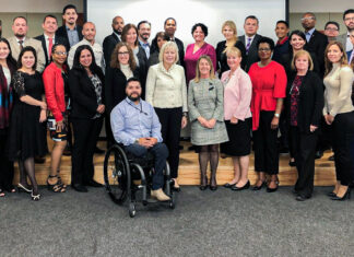 Director General of the Foreign Service and Director of Global Talent Carol Z. Perez (seventh from left) attends the Locally Employed (LE) Staff Regional Workshop at Embassy Colombia, Aug. 22, 2019. Photo courtesy of the Bureau of Global Talent Management