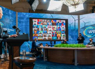 President Joe Biden kicks off the virtual Leaders Summit on Climate on Earth Day, April 22. Photo by Adam Schultz