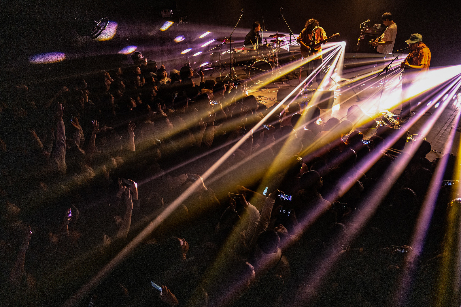 A concert, like this one at VOX Live House, is a typical part of night life for youth in Wuhan. Photo by Jamie Fouss