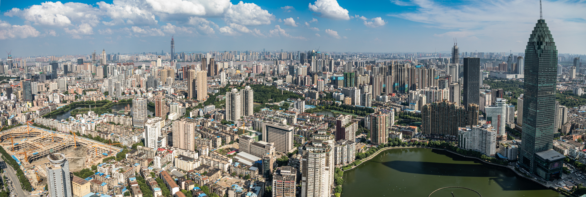 A scenic city panorama featuring the Minsheng Bank Building (far right), which will house the future U.S. Consulate General in Wuhan. Photo by Jamie Fouss