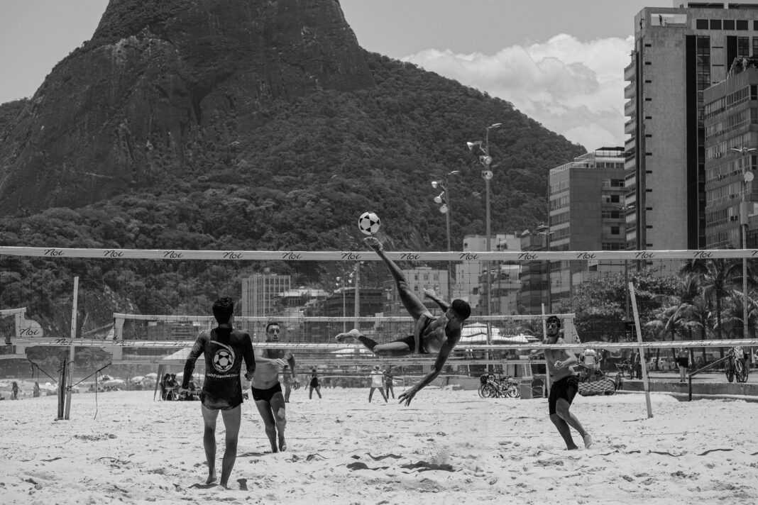 """Beach volleyball and other outdoor activities and sports are key to the """"Carioca"""" lifestyle in Rio de Janeiro. Photo by Scott Hamilton"""