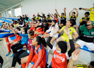 """The """"She Plays Football"""" program, organized by LEAD Africa and Embassy Rabat's public affairs section, included 12 Moroccan female coaches and 60 female high school students. Photo by Khalid Allaoui"""
