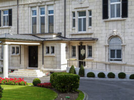 At Embassy Luxembourg's chief of mission residence, a recent renovation saw the addition of a wheelchair ramp to match the building's facade. Photo courtesy of the Bureau of Overseas Buildings Operations